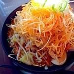 らーめん 華山 - 野菜ラーメン辛ネギトッピング