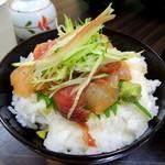 朝市さかば - 2014年5月5日(月・祝) 能登丼(みそ汁付)700円 丼アップ