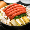 Yumezenyatsushiro - 料理写真:明太子がたっぷり!!プルプルの黒毛和牛のもつを。
