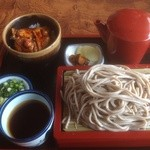 食事処 せきぐち - 大もりそば(810円)&ミニ豚丼(440円)