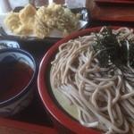 食事処 せきぐち - 冷地鶏天そば(1350円)