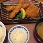 まるやま - エビ&ヒレカツ定食(バースディサービス)