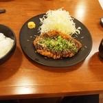 とんかつ 三谷 - おすすめの特選熟成ロースとんかつ定食(150g)みそだれ 白ご飯 大
