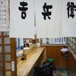 天丼 吉兵衛 - 小さいお店ですから、外観撮ってたら、内観になってしましました(笑)