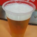 たこ焼き  シオヤ - 生ビール(大)