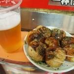 たこ焼き  シオヤ - たこ焼き & 生ビール(大)