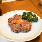 桜なべ 中江 - 2014.4 馬肉のつくね(1,280円)