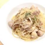 ジャファンス - 備中若鶏とキノコの白ワインソーススパ '14 4月下旬