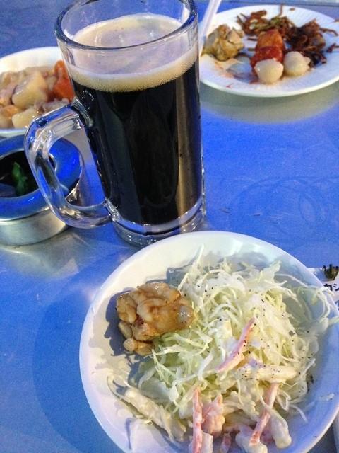 タカシマヤ屋上 アサヒビアガーデン - タカシマヤ屋上 アサヒビアガーデンの黒生ビールと料理(14.05)