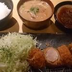 27084725 - 平牧三元豚棒ひれカツ定食2000円