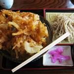 Furusatokikou - かき揚げ丼ザル蕎麦セット880円税込