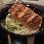 レストラン ラ フィネス - ポワソン 真鯛とホワイトアスパラガスと枝豆