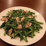 中国家庭料理 龍盛 - にらとアサリの塩味炒め