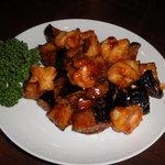 中国家庭料理 龍盛 - エビと茄子の炒め物