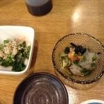 函館 海や - 菜の花のお浸しと白魚の酢の物