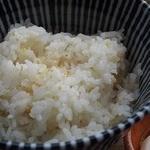 マゴコロ - 麻の実がかかったご飯は宮城産 甘くておいしいです