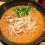 博多風龍 - 辛味噌とんこつ 600円 替玉一回 胃薬を飲みながら博多風龍を食す矛盾。