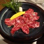 焼肉 ふじ咲 - 和牛上ハラミ(タレ)(1800円)
