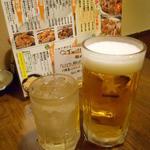とりビアー - 角ハイボール&サッポロ生ビール(男前)