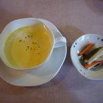 271332 - スープとピクルス(サラダは取り忘れた!)