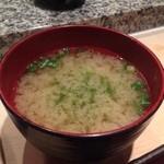 つかさ鮨 - お椀は海苔汁w