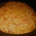 からから屋 - 〆の雑炊・チーズ、トマト入れリゾット風に。