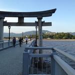 27101137 - 竹島から望む蒲郡クラッシックホテル。