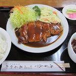 あらかわ食堂 - ポークソテーライス 1000円