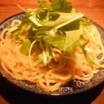 猫八 - 水菜とあっさりネギのヤキソバ
