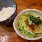濃菜麺 井の庄 - ミニごはんセット・スッパベジ(150円)
