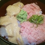 鮨 清山 - 鯛の胡麻ダレとネギトロの小丼♡