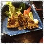 有魚亭 - ほほ肉の竜田揚げ ¥1260