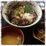 有魚亭 - 1日20食限定 マグロづけ&ネギトロの二色丼  ¥1000 激安‼