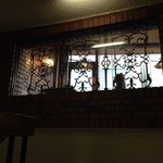 埼玉屋 - 階段から見上げた内窓