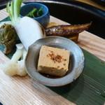27117586 - 昼のコース 雲(KUMO) ¥3000  前菜 お口取り盛り合わせ