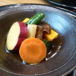 27117625 - 野菜の揚げびたし