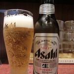 ラーメン番長銀次郎 - 2014.05瓶ビール(500円)
