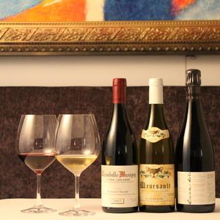 本格フレンチとワインのマリアージュをお楽しみください。
