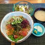 27122161 - 天然魚のヅケ丼セット