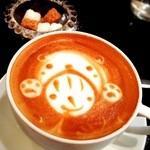 プテイルルカフェ - カフェラテ☆ 相変わらずかわいいラテアートをしてくれるカフェです♡