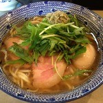 島田製麺食堂 - 飛魚そば<味玉付麺大盛り無料>(800円)