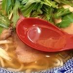 島田製麺食堂 - 飛魚そば<味玉付麺大盛り無料>(800円)スープ