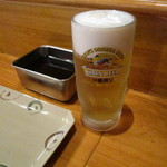 串あげ 万福 - 生ビール@450円