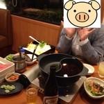 和食さと - 料理写真:さとしゃぶプレミアムを選択。ダシは6種類の中から2種類選べますが、定番の昆布だしと期間限定のコク旨しょうゆだしを選択。