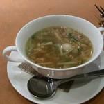 27133489 - 本日のスープ:具沢山スープ(鶏肉。ベーコン入り)
