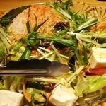 27143088 - 豆腐とミズナのサラダ♪
