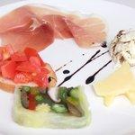トラットリア ドン ジョヴァンニ - ランチコース 1200円 の前菜5種盛り合わせ