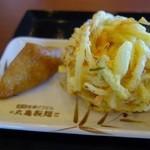 丸亀製麺 - いなり&かきあげ