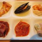 空桜 - 洋食系 ピザ、ムール貝のアクアパッツァ、ドリア、豚肉のシチュー、トリッパ、ニョッキ