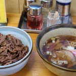 鴻蘭 - カルビ丼セット(800円)